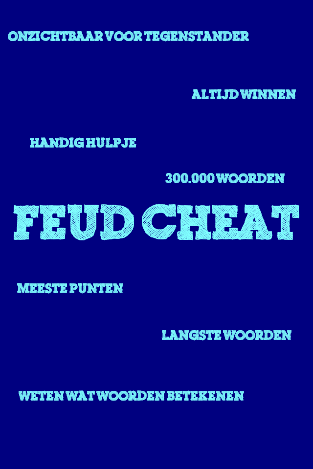 Screenshot Feud Cheat Pro for Wordfeud (NL)